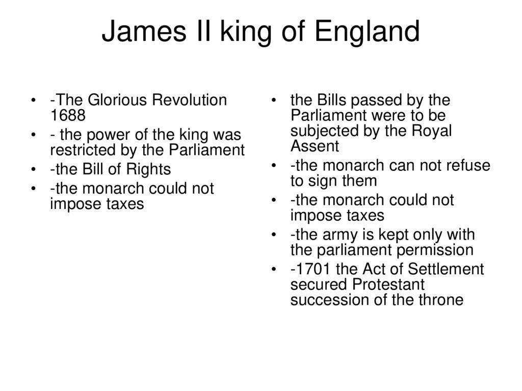 James II king of England