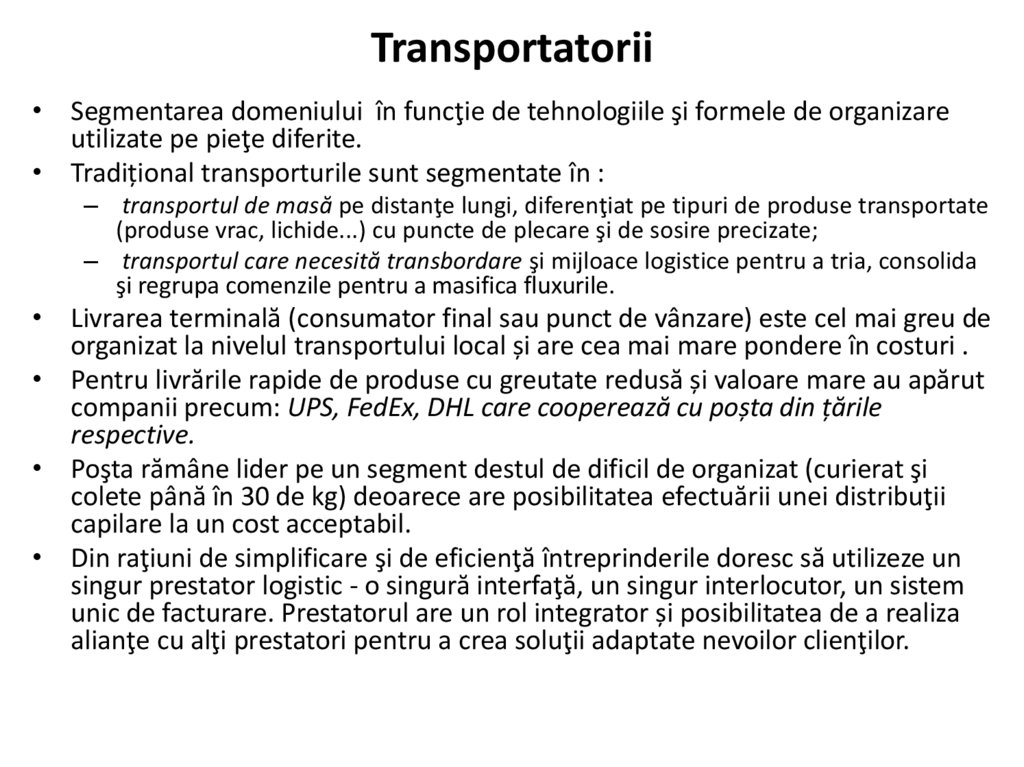 Transportatorii