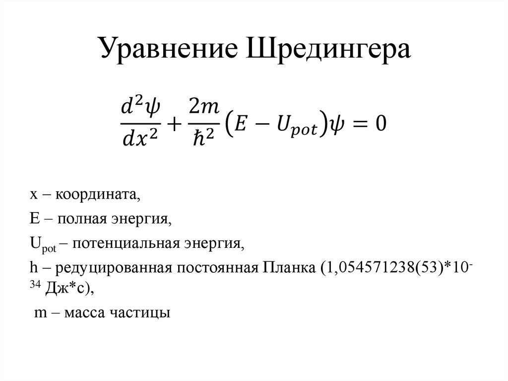 коленной уравнение шредингера фото жизнь