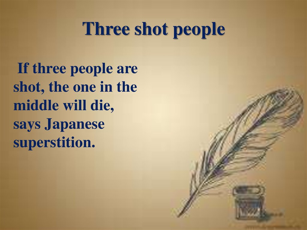 Three shot people