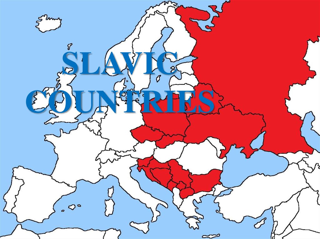 SLAVIC COUNTRIES
