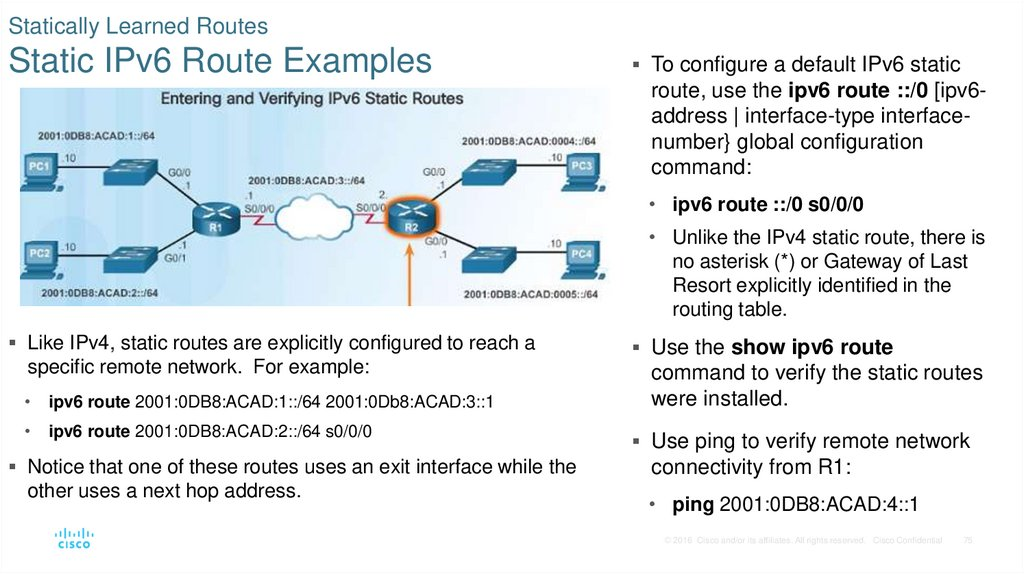 Routing concepts - online presentation