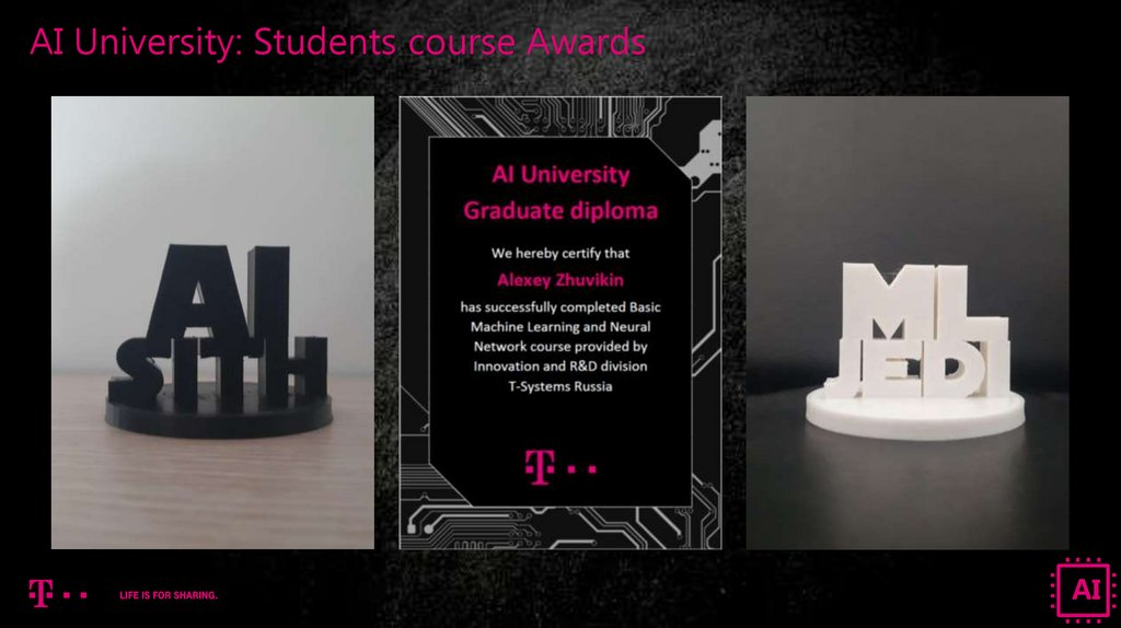 AI University: Students course Awards