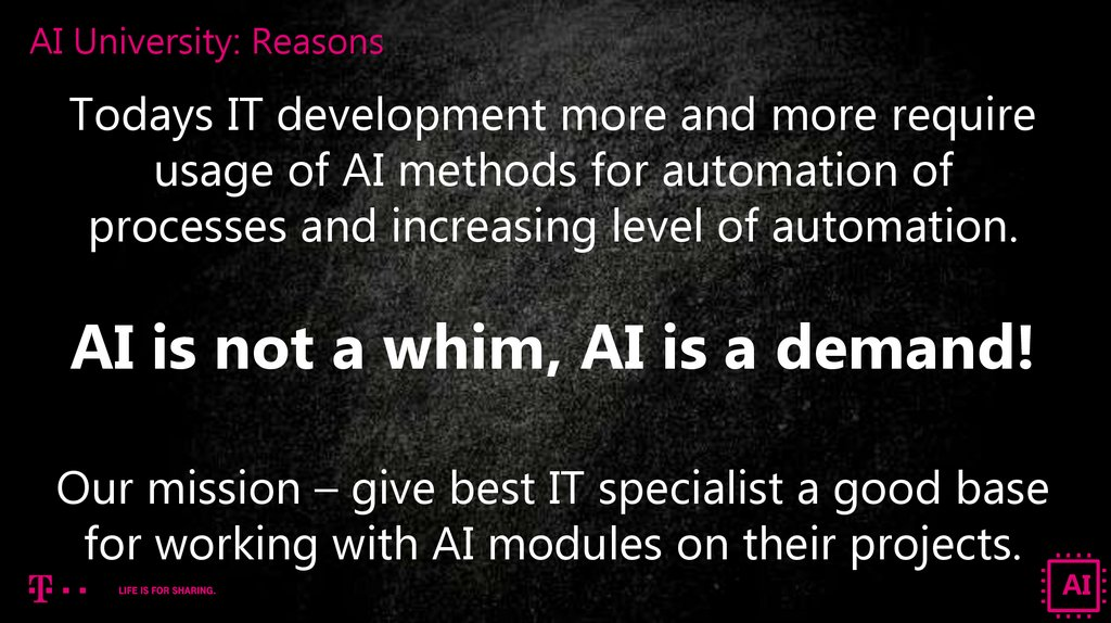 AI University: Reasons