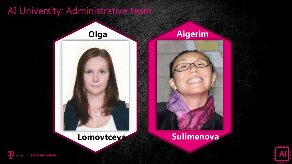 AI University: Administrative team