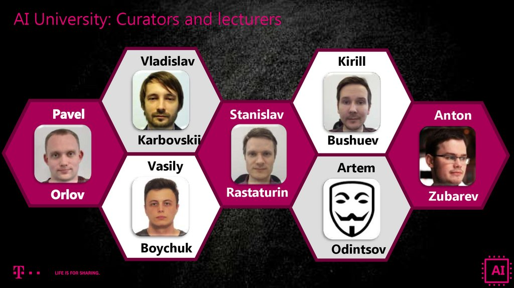 AI University: Curators and lecturers