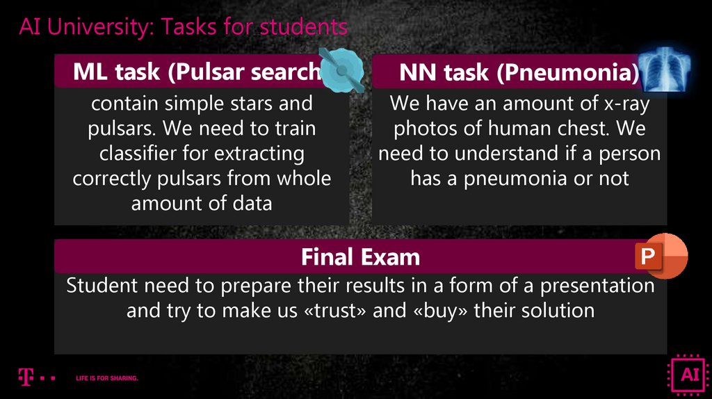 AI University: Tasks for students