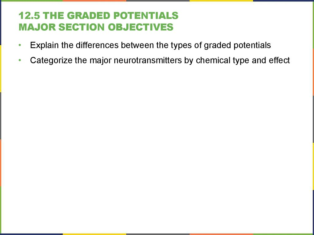 12.5 The Graded Potentials Major section Objectives