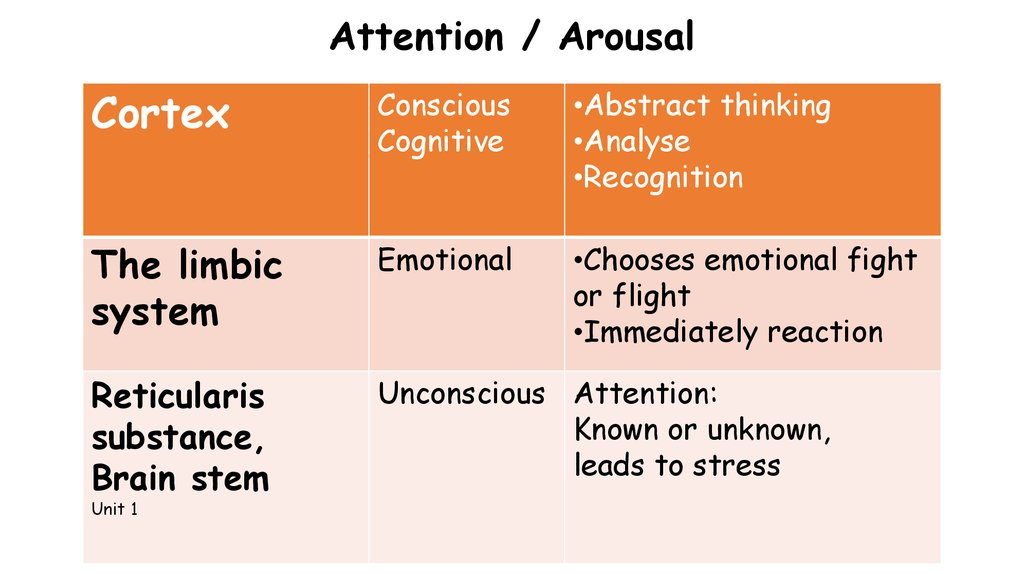 Attention / Arousal