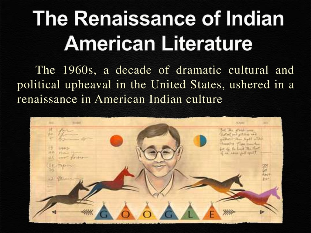 The Renaissance of Indian American Literature
