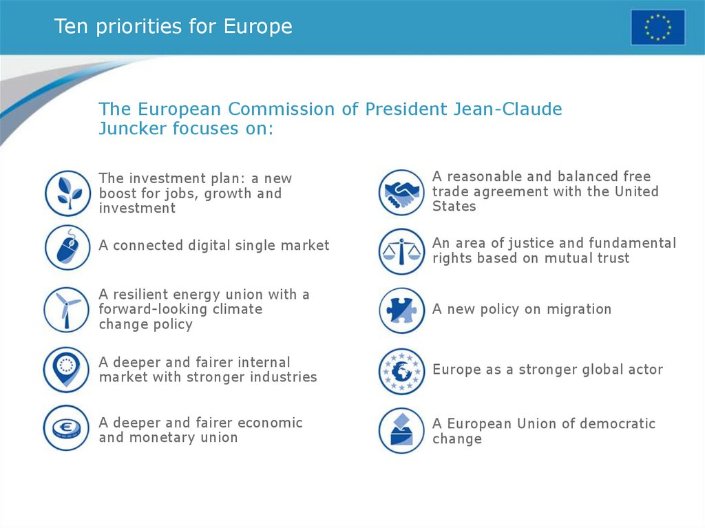 Ten priorities for Europe