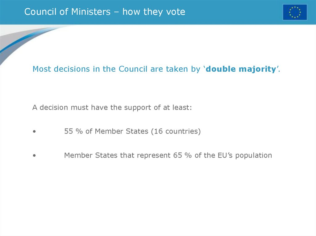 Council of Ministers – how they vote