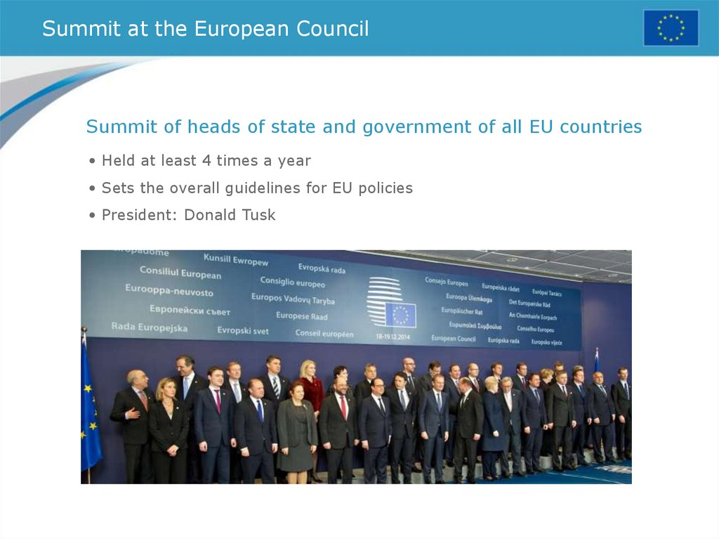 Summit at the European Council