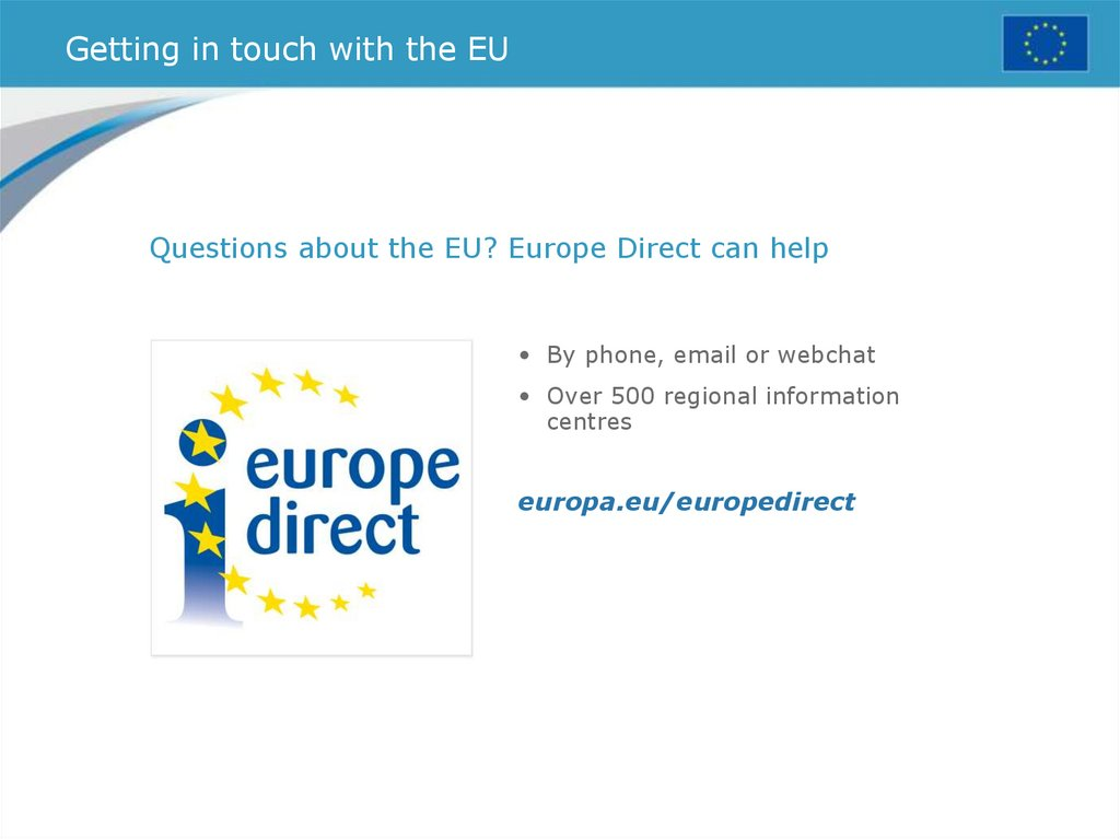 Getting in touch with the EU