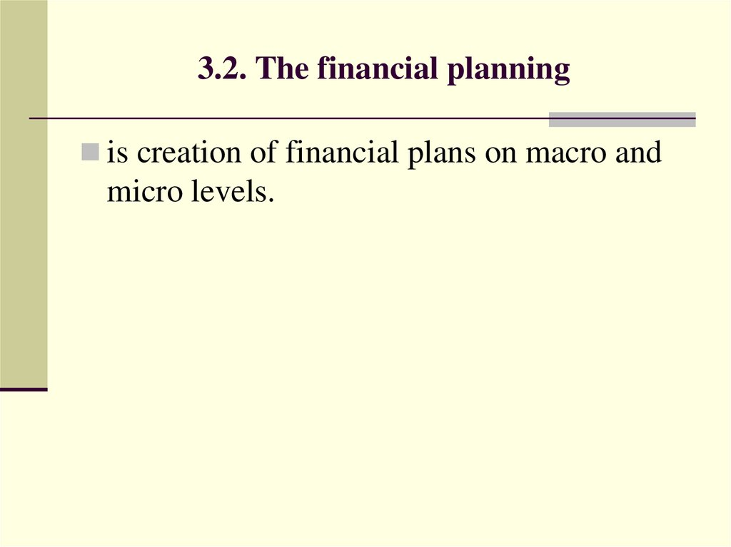 3.2. The financial planning