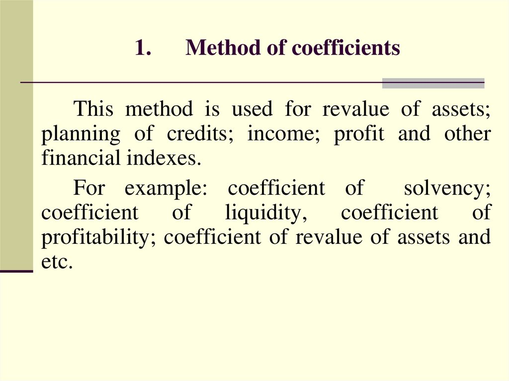 1. Method of coefficients