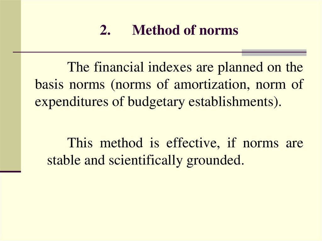 2. Method of norms