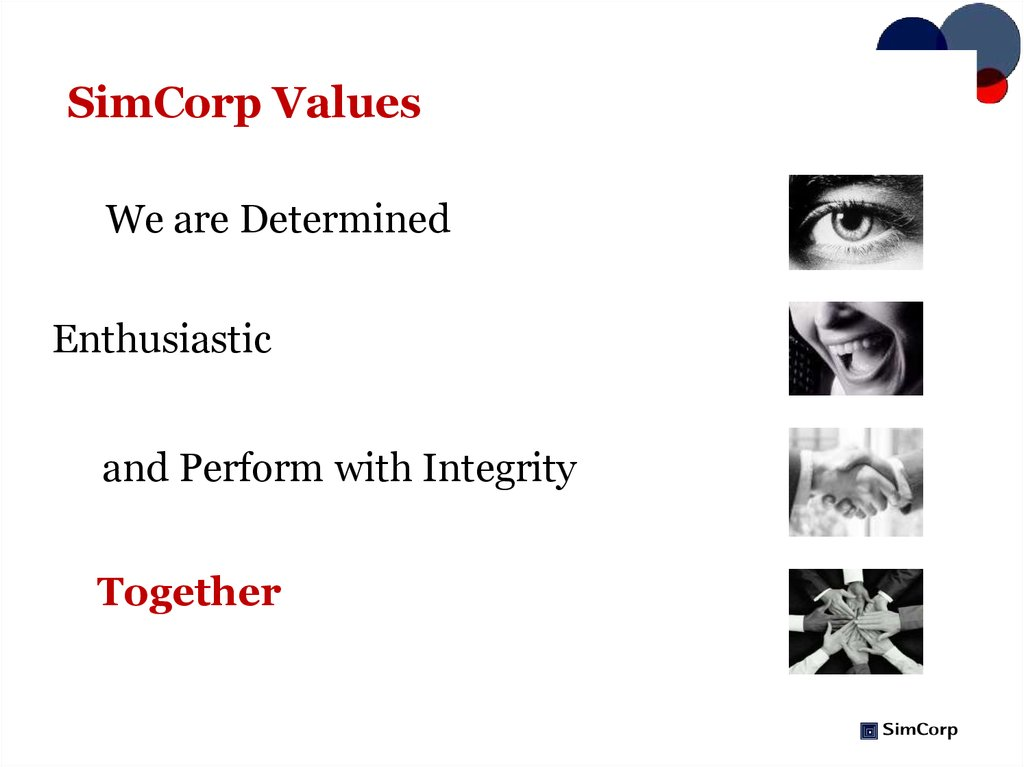 SimCorp Values