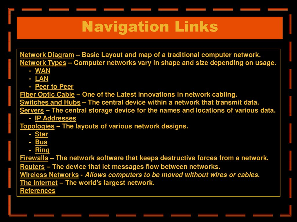 Navigation Links