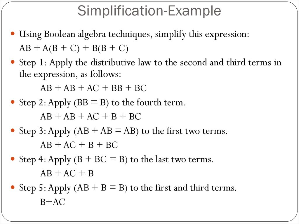 Simplification-Example