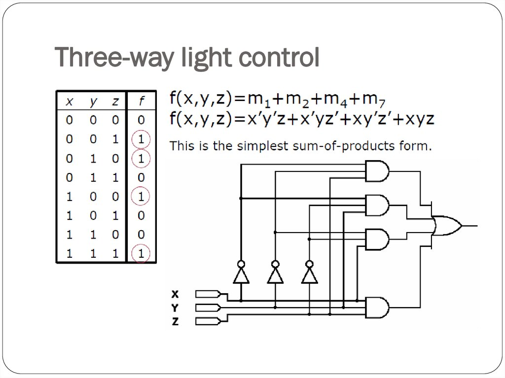 Three-way light control