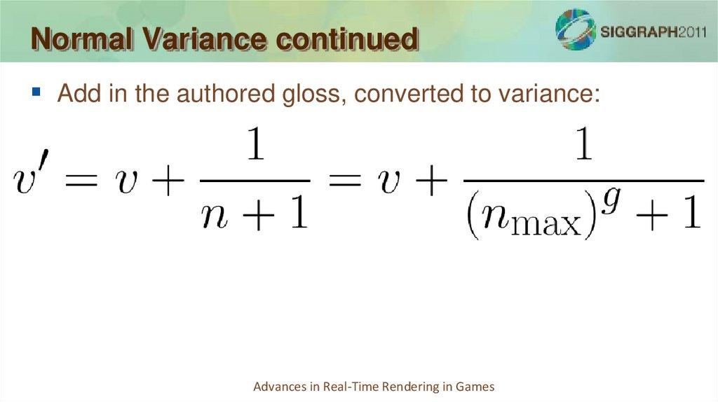 Normal Variance continued