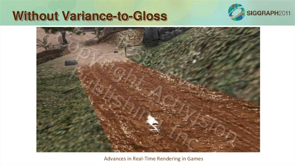 Without Variance-to-Gloss
