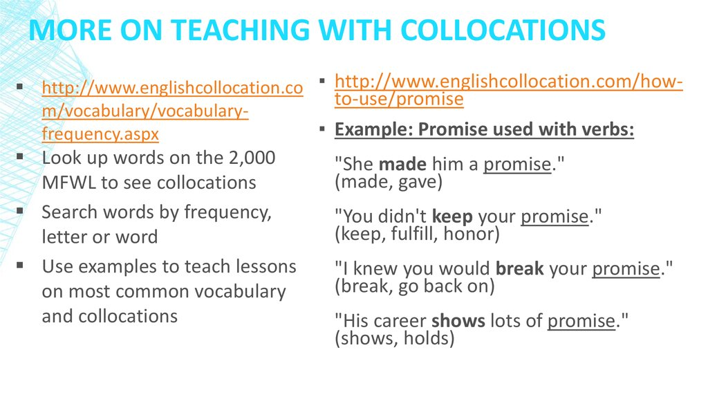 More on Teaching With Collocations