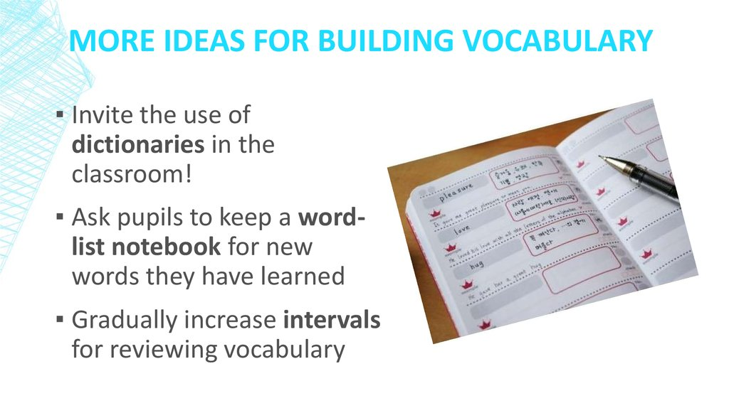 More Ideas for Building vocabulary