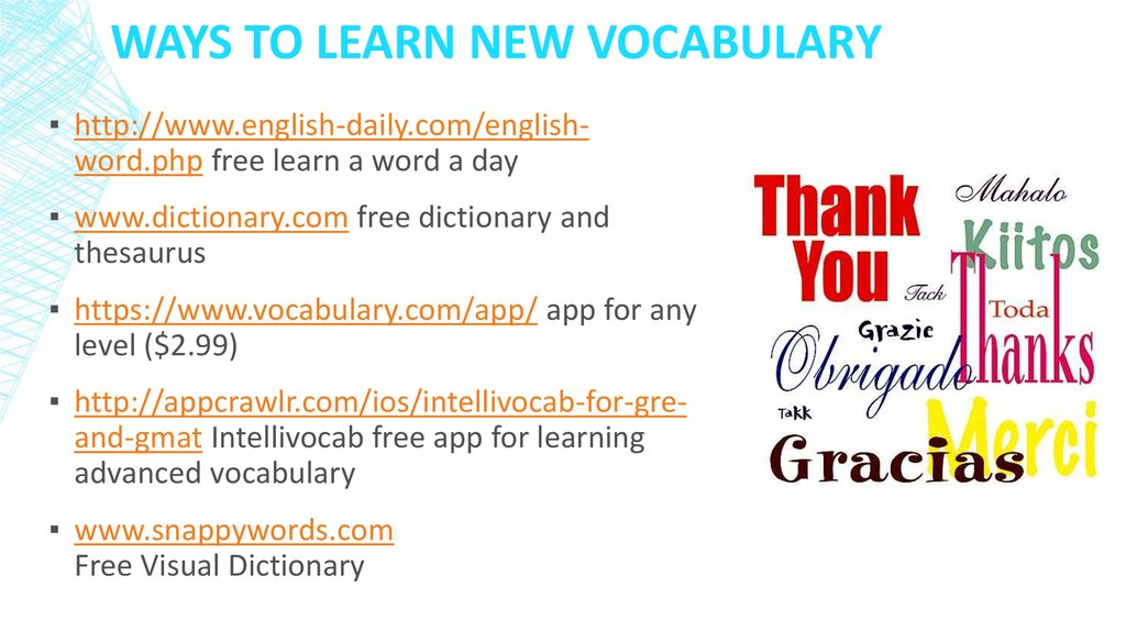 Ways to Learn New Vocabulary