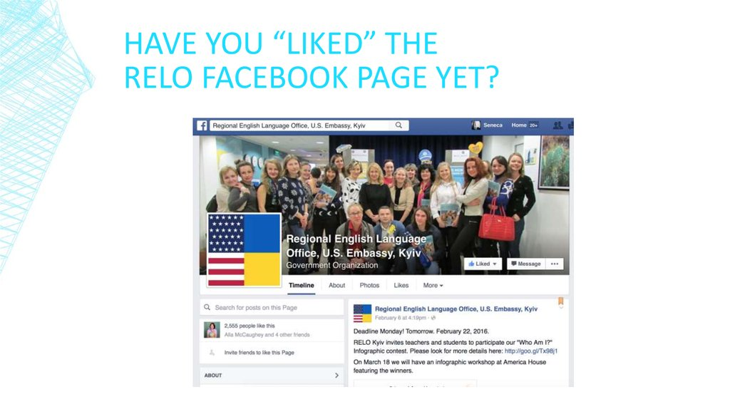 "Have you ""Liked"" the RELo facebook page yet?"