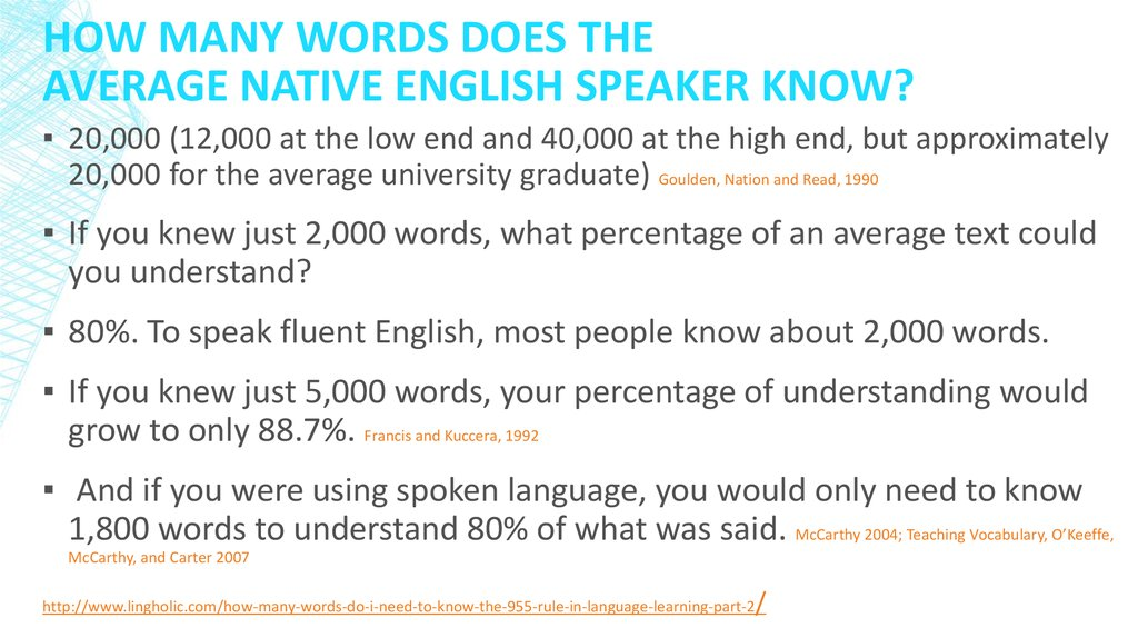 How Many Words Does the Average Native English Speaker Know?