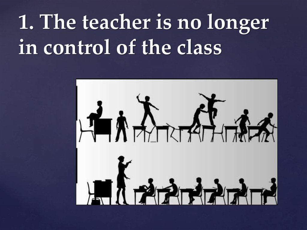 1. The teacher is no longer in control of the class