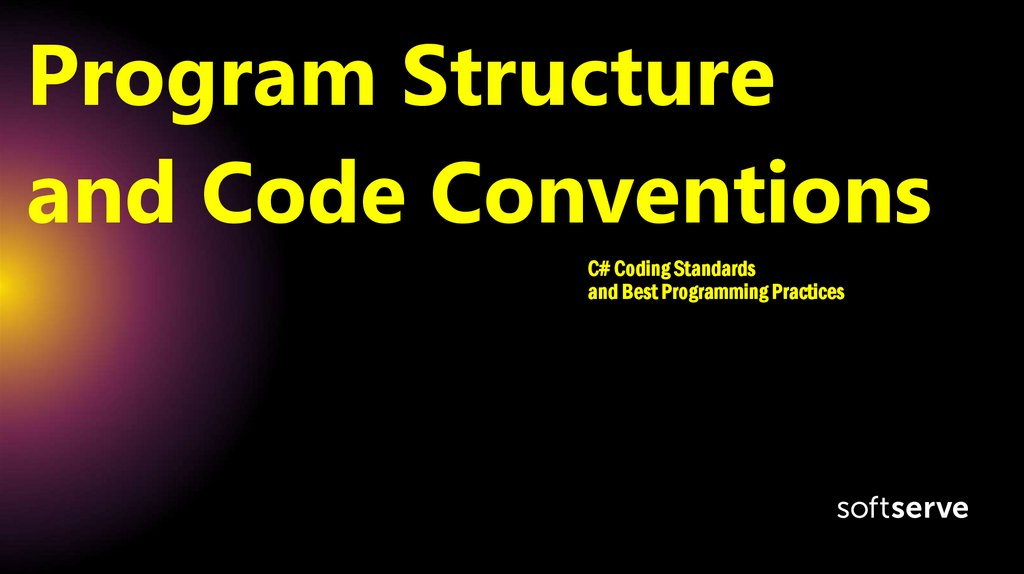 Program Structure and Code Conventions
