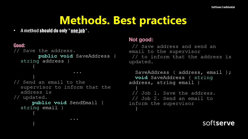 Methods. Best practices