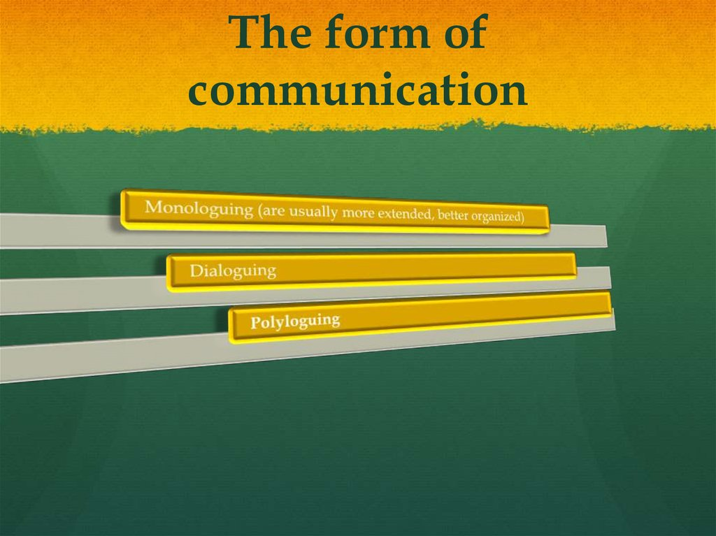The form of communication
