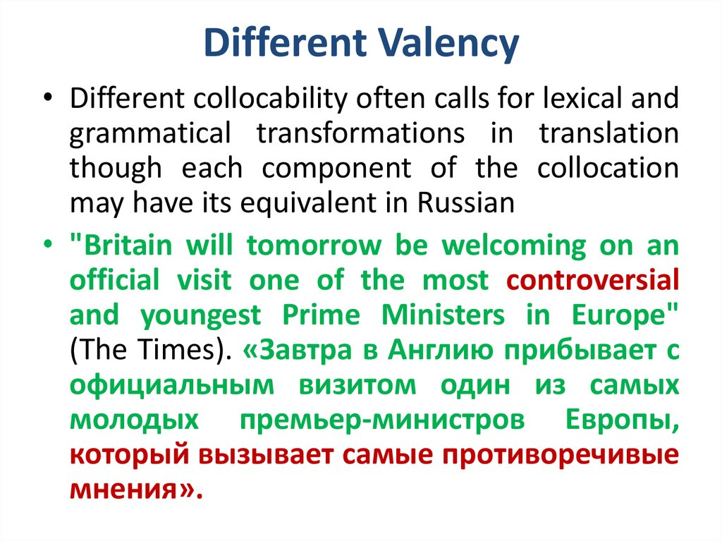 Different Valency