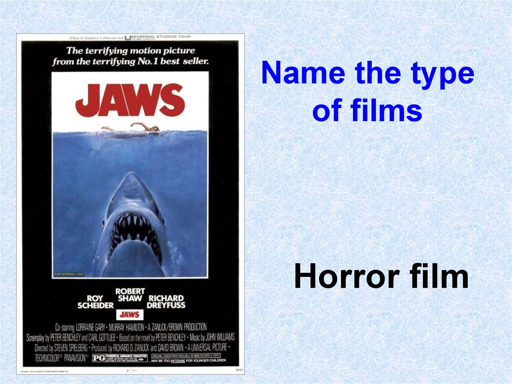 Name the type of films