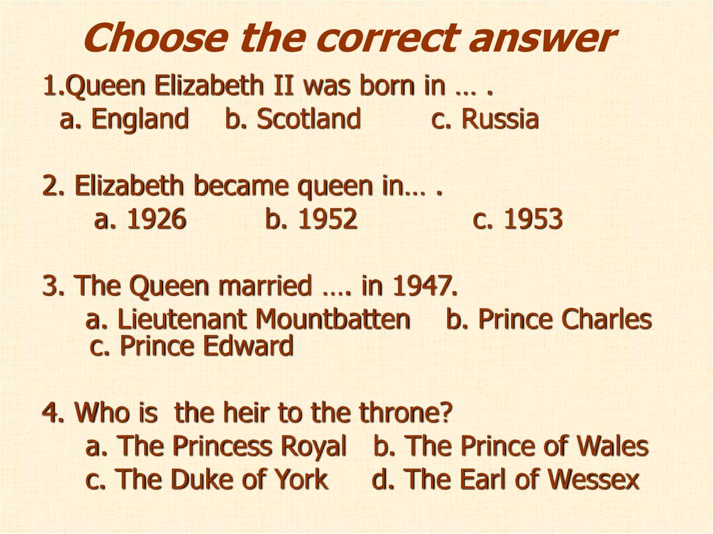 Choose the correct answer