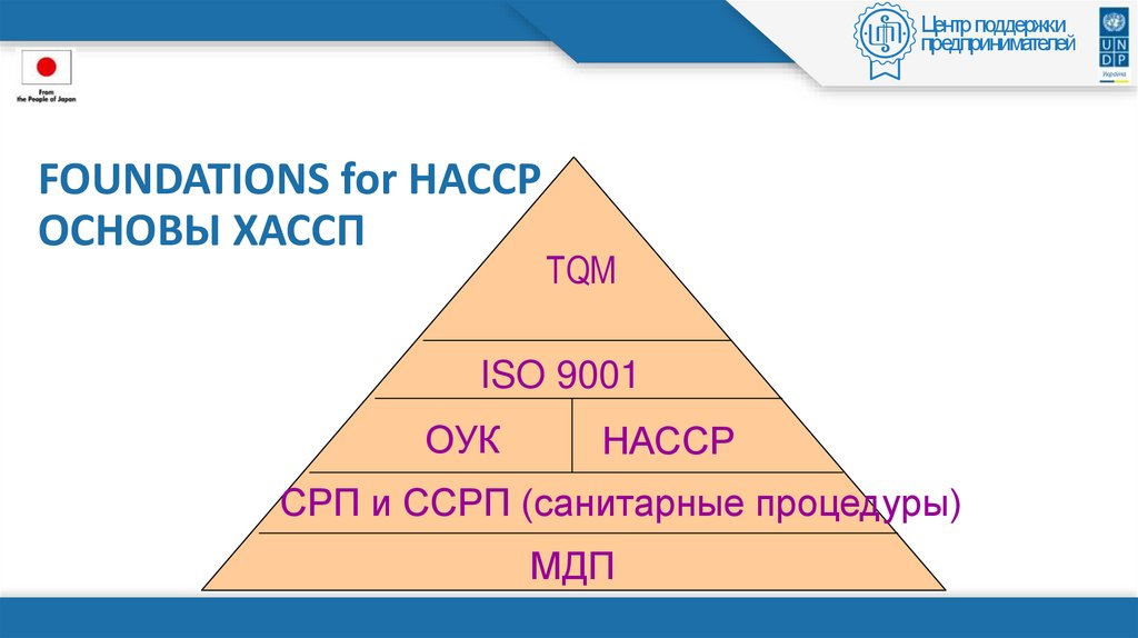 FOUNDATIONS for HACCP ОСНОВЫ ХАССП