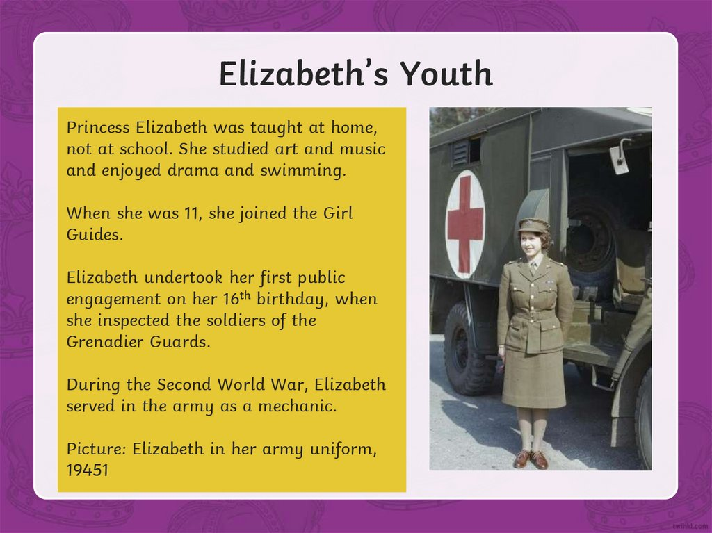 Elizabeth's Youth