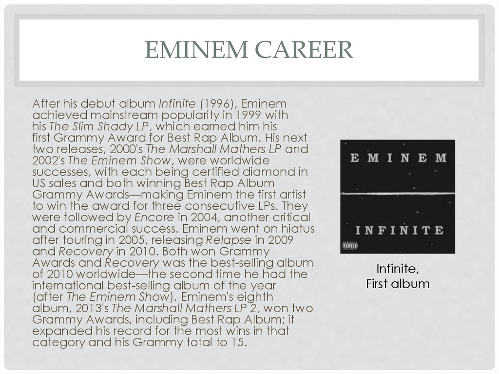 Eminem career