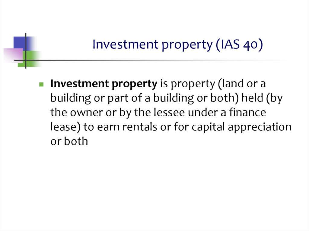 Investment property (IAS 40)