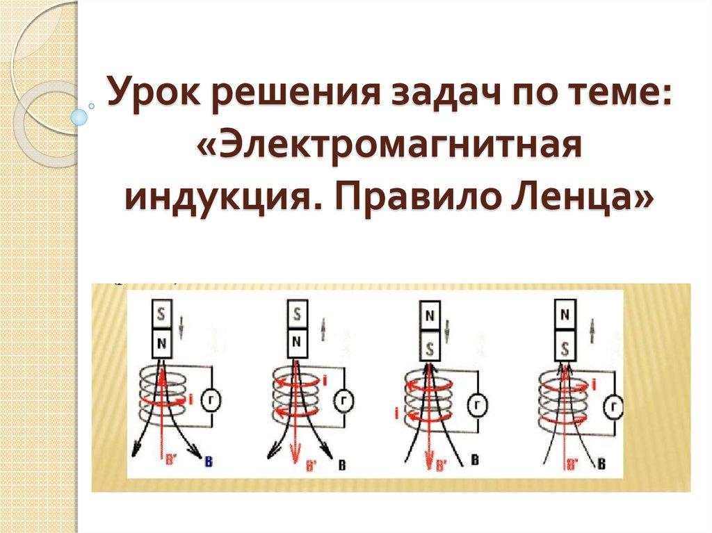 Задача на правило ленца с решением решение методической задачи