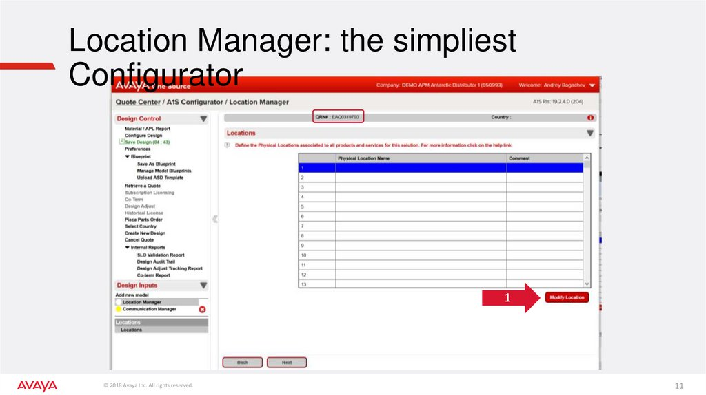 Location Manager: the simpliest Configurator