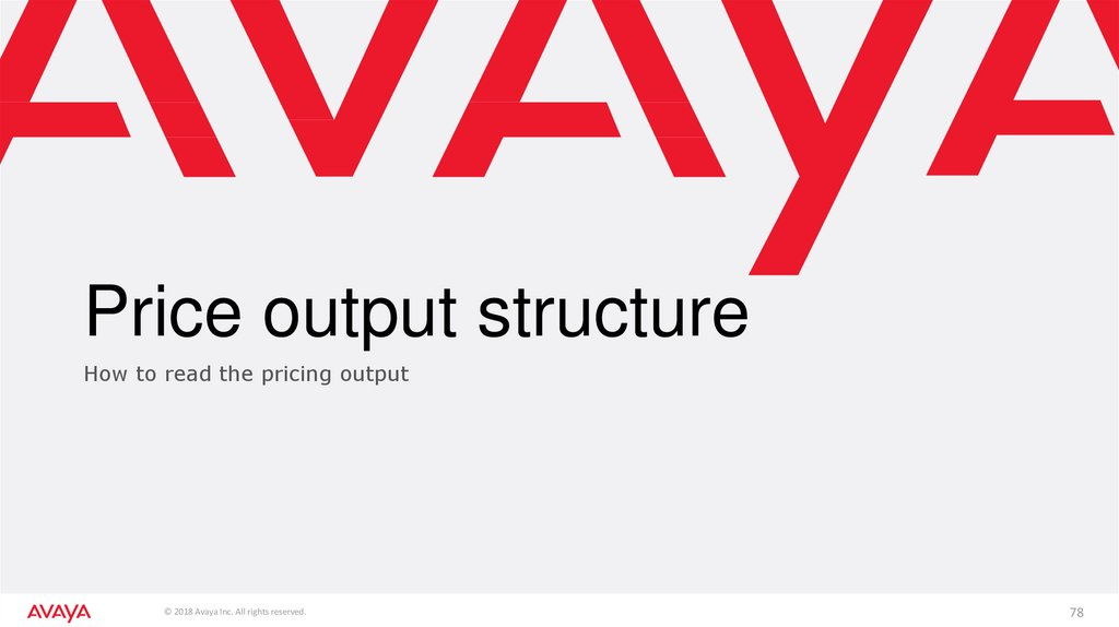 Price output structure