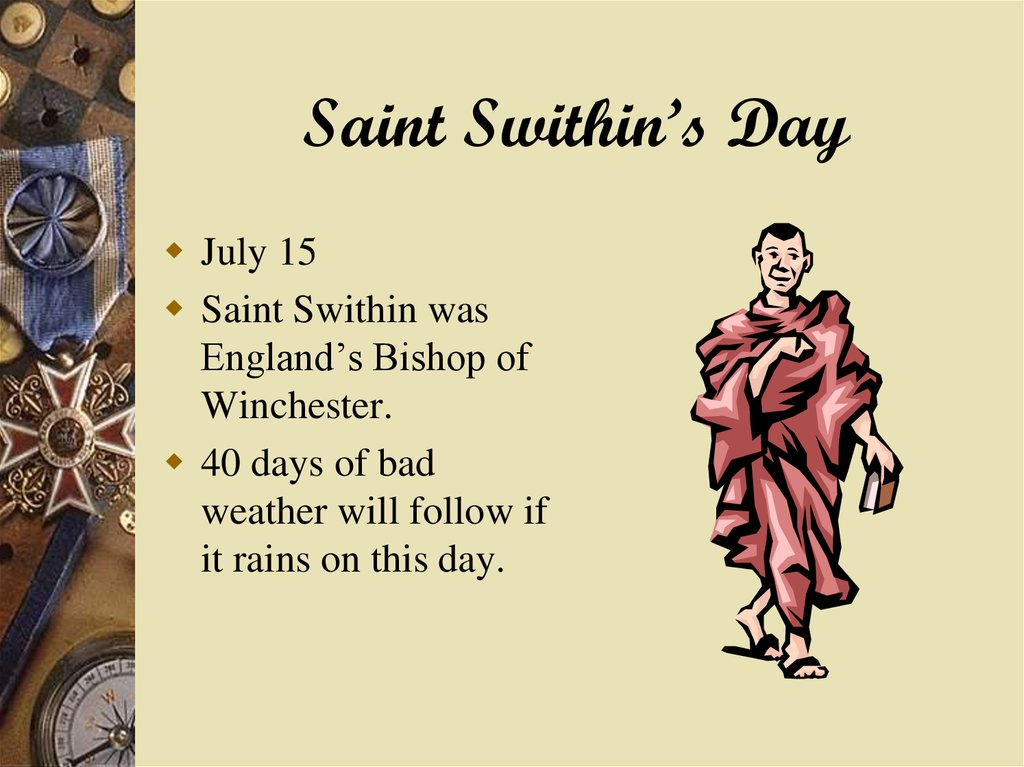 Saint Swithin's Day