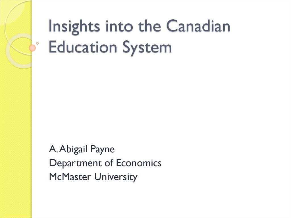 Insights into the Canadian Education System