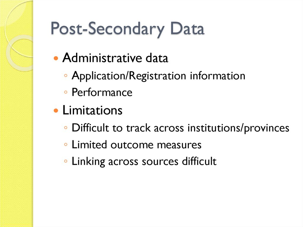 Post-Secondary Data