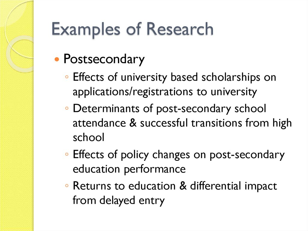 Examples of Research